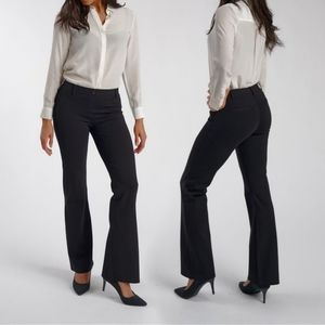 Betabrand boot cut yoga dress pants black S Long